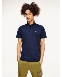 Tommy Hilfiger - Classic Stripe Collar Flag Patch Polo - Lyst