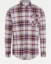 Tommy Hilfiger Geruit Overhemd Van Biologisch Katoen - Grijs