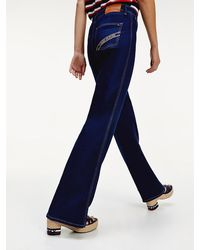 Tommy Hilfiger High Rise Flared Jeans - Blauw