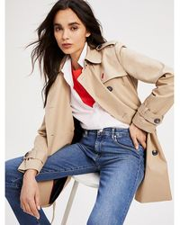 Tommy Hilfiger Double-breasted Utility-trenchcoat - Naturel