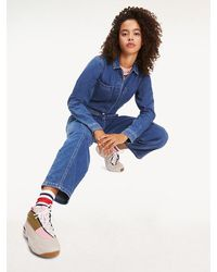 Tommy Hilfiger Denim Jumpsuit - Blauw