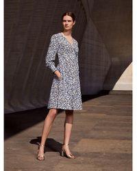 Tommy Hilfiger Tea Dress Met Knopen En Bloemetjesprint - Wit