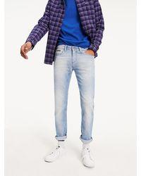 Tommy Hilfiger Scanton - Slim-fit Jeans Met Lichte Wassing - Blauw