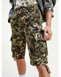 Tommy Hilfiger Korte Cargobroek Met Camouflageprint - Groen