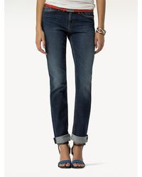 Tommy Hilfiger Rome Faded Straight Fit Jeans - Blauw