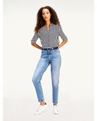 Tommy Hilfiger - Gramercy Mom High Rise Tapered Jeans - Lyst