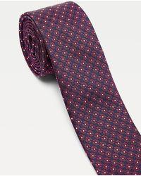 Tommy Hilfiger Cravate florale en soie mélangée - Rouge