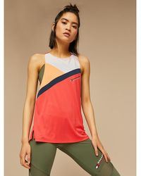 Tommy Hilfiger - Colour-blocked Mesh Panel Tank Top - Lyst