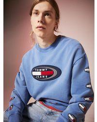 Tommy Hilfiger Summer Heritage Capsule - Sweatshirt Met Logo Op - Blauw