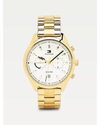 Tommy Hilfiger Verguld Dual-time Horloge - Metallic