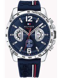 Tommy Hilfiger Waterdicht Horloge Met Signature-band - Blauw