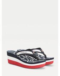 Tommy Hilfiger Nautical Wedge Heel Beach Sandal - Red