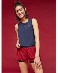 Tommy Hilfiger - Cropped Logo Tank Top - Lyst