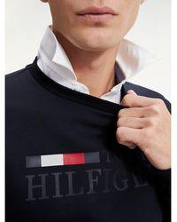 Tommy Hilfiger Th Flex Sweatshirt Met Logo - Blauw