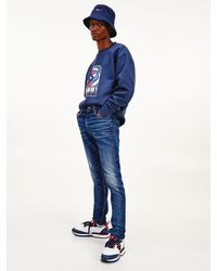 Tommy Hilfiger Simon Skinny Jeans Met Fading - Blauw