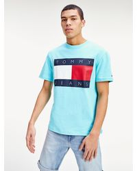 Tommy Hilfiger Heritage T-shirt Met Tommy Jeans-vlag - Blauw
