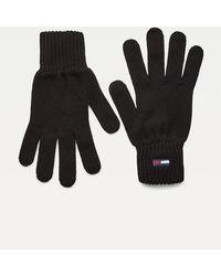 Tommy Hilfiger Essential Handschuhe aus Bio-Baumwolle - Schwarz