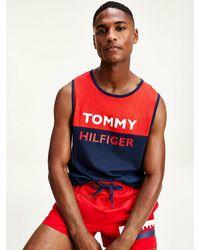 Tommy Hilfiger Tanktop Met Colour-blocked Logo - Blauw