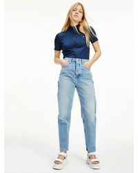 Tommy Hilfiger - Super High Rise Tapered Mom Jeans - Lyst
