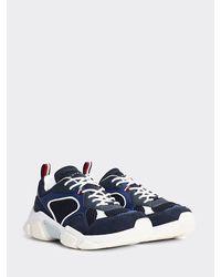 Tommy Hilfiger Chunky Sneaker Met Panelen - Blauw