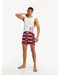Tommy Hilfiger - All-over Logo Swim Shorts - Lyst