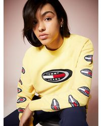 Tommy Hilfiger Tommy Jeans Summer Heritage Sweatshirt Met Logo - Geel