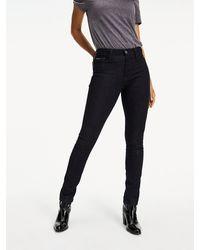 Tommy Hilfiger Santana - Skinny Jeans Met Hoge Taille - Zwart