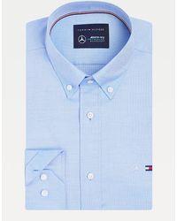 Tommy Hilfiger Mercedes-benz Overhemd Van Oxford-stretchkatoen - Blauw