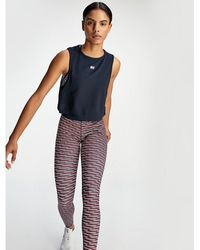 Tommy Hilfiger - Cropped Mesh Insert Tank Top - Lyst