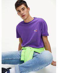 Tommy Hilfiger - Chest Logo Organic Cotton T-shirt - Lyst