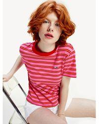 Tommy Hilfiger T-shirt Tommy Classics rayé - Rose