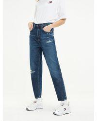 Tommy Hilfiger Tj 2004 Mom Fit Jeans - Blauw