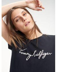 Tommy Hilfiger Hertiage T-shirt Met Logoprint - Zwart