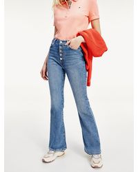 Tommy Hilfiger Th Cool Skinny Jeans Met Bootcut - Blauw