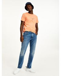 Tommy Hilfiger Mercer Regular Jeans Met Fading - Blauw