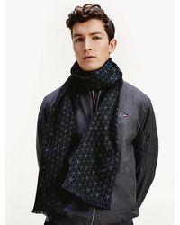 Tommy Hilfiger Mercedes-Benz Schal mit geometrischem Muster - Schwarz