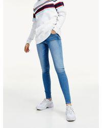 Tommy Hilfiger Sylvia Superskinny Fit Jeans Met Dynamische Stretch - Blauw