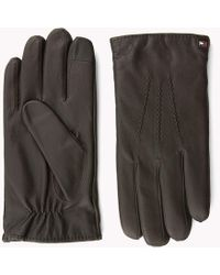 Tommy Hilfiger - Leather Gloves - Lyst