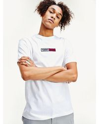 Tommy Hilfiger - Box Logo Embroidery T-shirt - Lyst