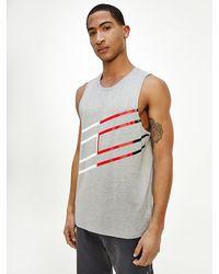 Tommy Hilfiger Sport Th Cool Print Tank Top - Grey