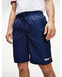 Tommy Hilfiger Relaxed Fit Basketbalshort - Blauw