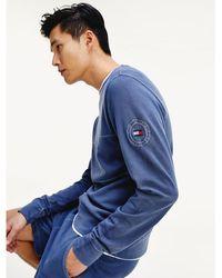 Tommy Hilfiger Garment-dye Katoenen Sweatshirt - Blauw