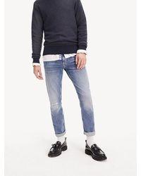 Tommy Hilfiger Bleecker Slim Fit Faded Jeans Met Stretch - Blauw