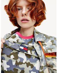 Tommy Hilfiger T-shirtjurk Met Korte Mouwen En Camouflageprint - Meerkleurig