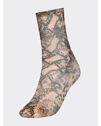 Tommy Hilfiger Zendaya Sok Met Slangenprint - Naturel