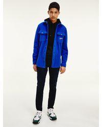 Tommy Hilfiger Overhemd Van Fleece - Blauw