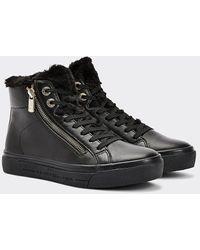 Tommy Hilfiger Warm Gevoerde Hoge Sneaker - Zwart