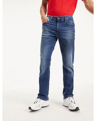 Tommy Hilfiger Ryan Straight Fit Jeans Met Fading - Blauw