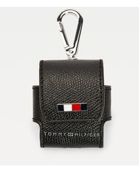 Tommy Hilfiger Th Business Leather Earphone Case - Black