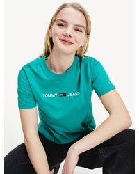 Tommy Hilfiger T-shirt Van Biologisch Katoen Met Logo - Groen
